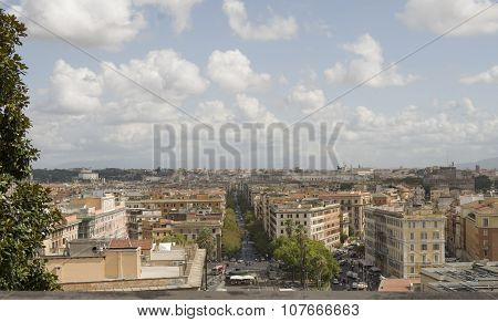Rome, A Top View Of The Vatican