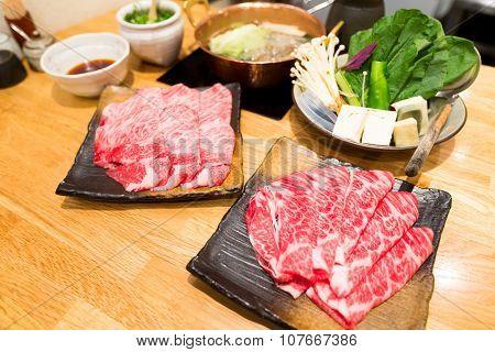 Shabu-Shabu, hot pot of Japanese