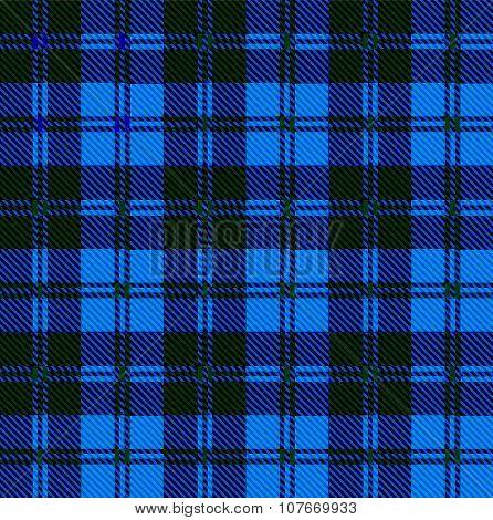 Blue Tartan Wool Material