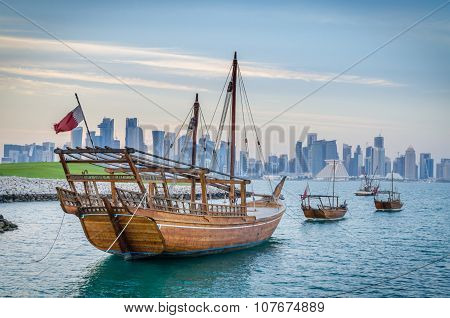 Qatar traditional boat, Dhow