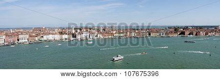 Venice Panorama Lagoon and boats
