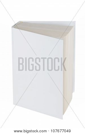 Blank Book Hardcover Isolated On White Background