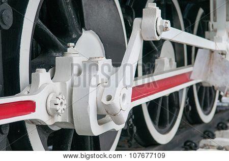 Wheel Of Old Steam Locomotive