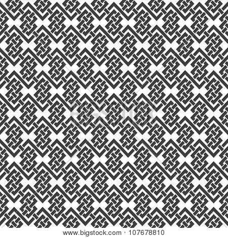 Seamless pattern of braided