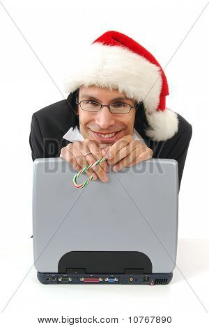 Happy Businessman At Christmas