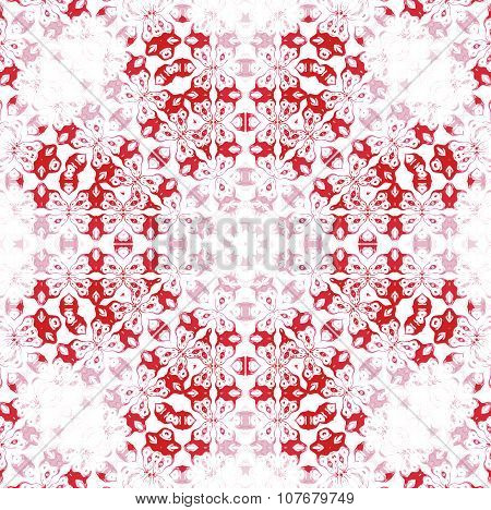 Seamless octagon pattern red white