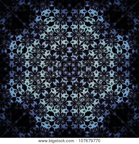 Seamless octagon pattern blue silver black