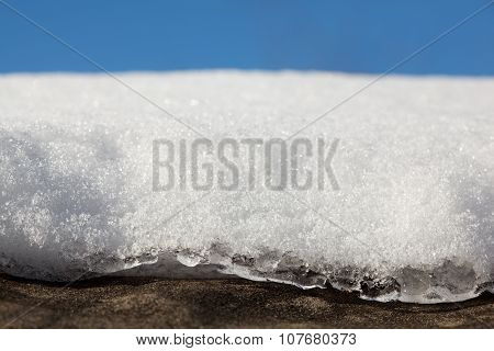 Thawing Snow On Roof
