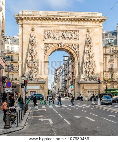 Porte Saint Denis In Paris