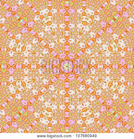 Seamless circle pattern orange violet