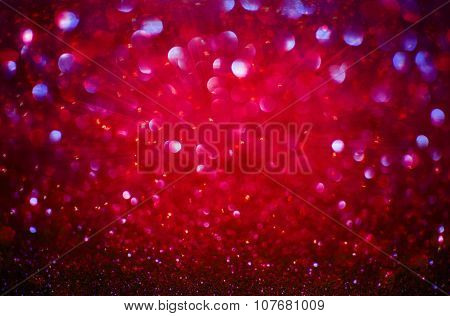 Abstract Red Burst Bokeh Light Background