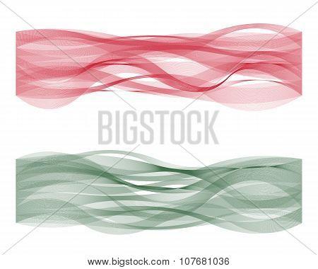 Wave line flag of Hungary