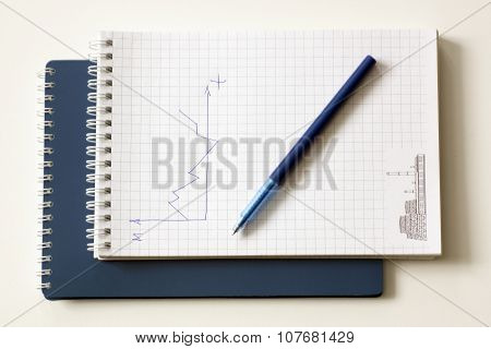 Pen with a notebook