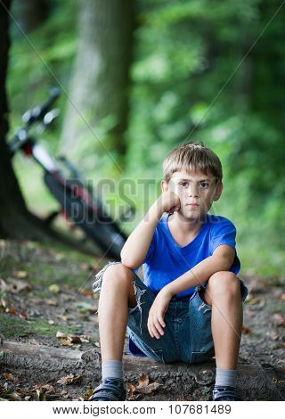 Little Cyclist Resting