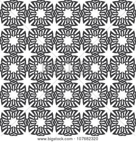 Seamless pattern of intersecting celtic flowers