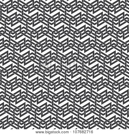 Seamless pattern of intersecting braided strips
