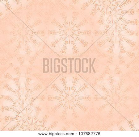 Seamless spiral and star pattern pink shiny