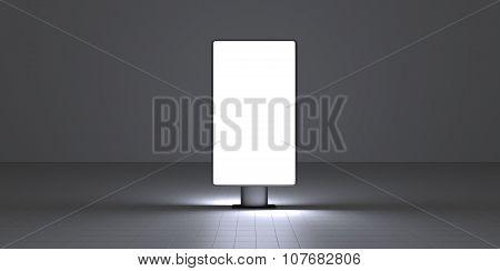 Vertical Screen On Dark Background Interiour Night
