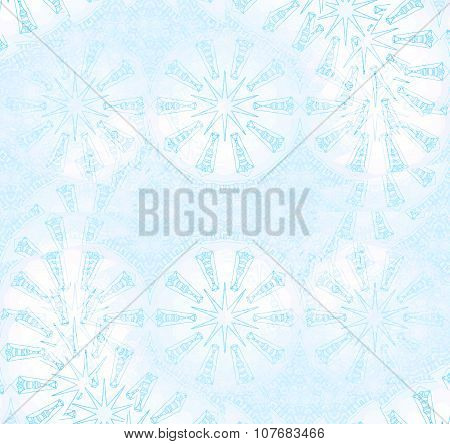 Seamless star pattern pastel blue white