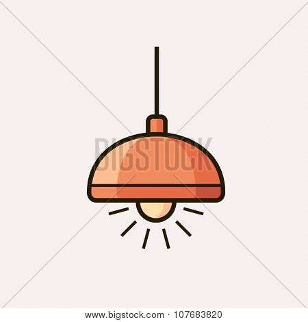 Light fixture icon. Lamp. Vector illustration