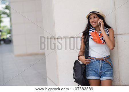 Woman calling on the phone