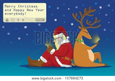 Santa  And Reindeer Chat