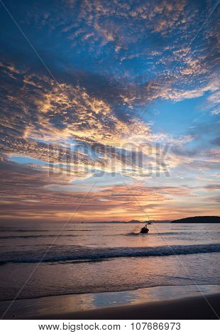 Sunset at Beach, Ao Nang Krabi Thailand