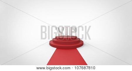 Silver Chrome Vip Text On Red Carpet Vip Way Silver Chrome Fence On White Gray Background