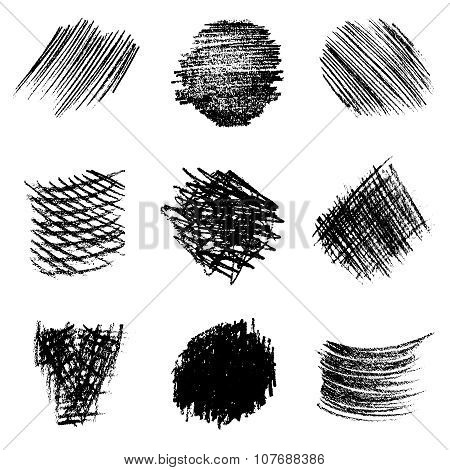 Vector Set Of Pencil Hatching 1
