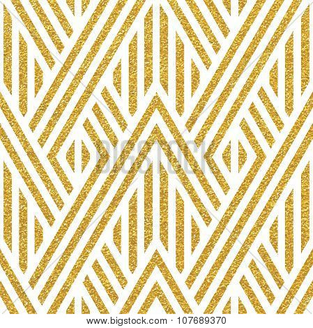 Geometric striped ornament.