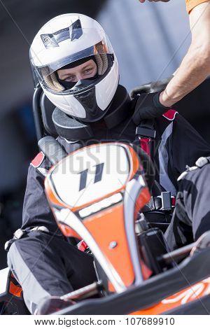 Karting Pilot Ready For Race