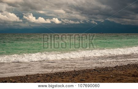 Dramatic Waterscape on a Black Sea shore