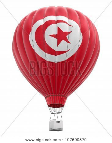 Hot Air Balloon with Tunisian Flag (clipping path included)