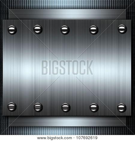 metal background, polished metal, steel texture.