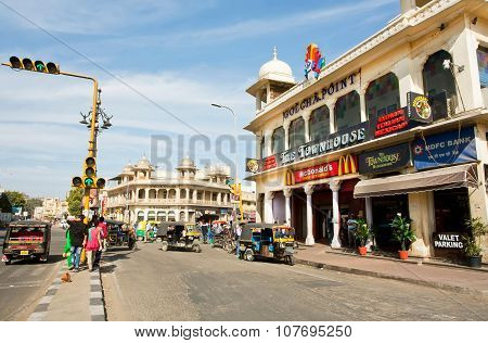 Fast Food Restaurant By Mcdonald's Corporation In Historical Building In India