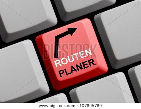 Computer Keyboard Route Planner German