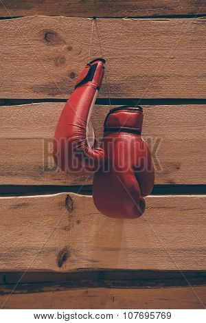 Boxing Gloves On The Wall.