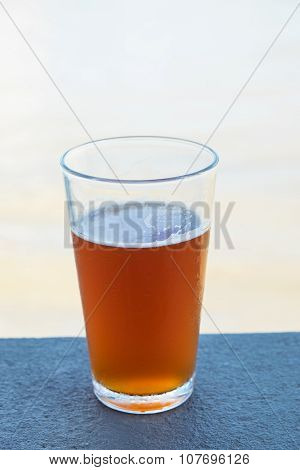 Pint of crafted ale