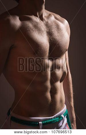 Muscular Torso Of Athletic Man