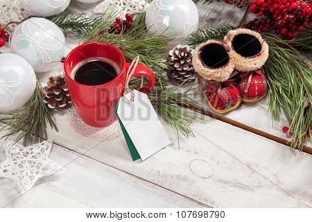 The a cup of coffee on the wooden table