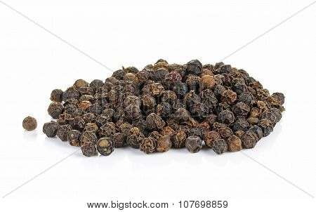 Black Peppers Isolated On White
