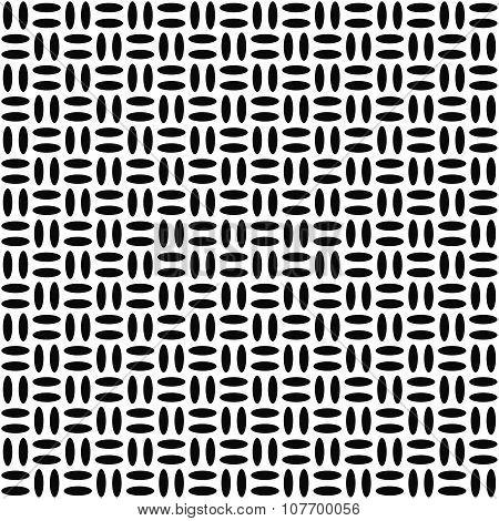 Monochrome ellipse repeat pattern