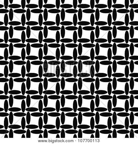 Seamless black and white ellipse pattern