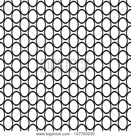 Repeating black white ellipse pattern