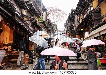 Japanese Umbrellas in Kyoto