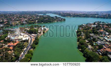 BELO HORIZONTE - CIRCA OCTOBER 2015: Aerial view of Belo Horizonte in Minas Gerais, Brazil