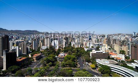 BELO HORIZONTE - CIRCA OCTOBER 2015: Liberty Square in Belo Horizonte, Minas Gerais, Brazil