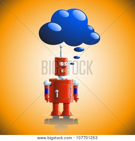 robot think