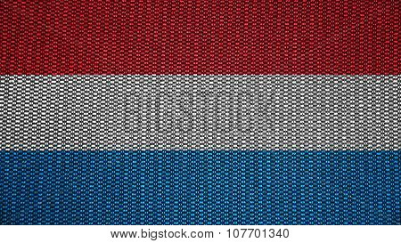 Flag of Luxembourg painted on stitch texture