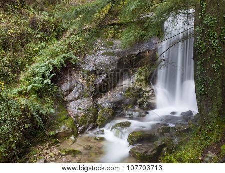 Beautiful waterfall at Geres National Park, Portugal